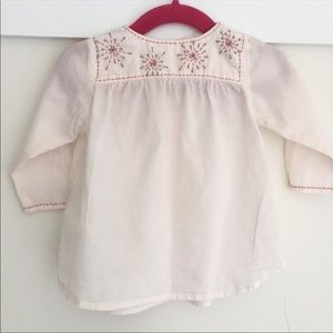 Ketiketa embroidered peasant top